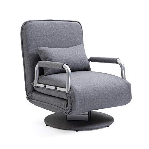 Mingone gartensessel lesesessel bettsofa schlafsessel relaxsessel Sessel schlafsessel mit bettfunktion (Grau)