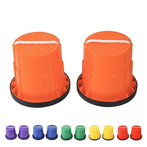 HAPPYMATY Zancos de plástico para niños, antideslizantes, con borde de goma, para correr, deportes infantiles, guarderías, etc.