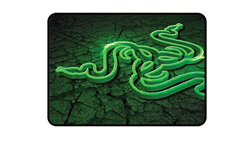 Razer RZ02-01070500-R3M2 Tappetino Gaming, Piccolo, Fissure (Verde)