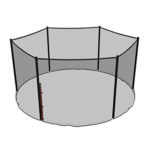 Ampel 24 - Rete di Sicurezza di Ricambio per Trampolino con Ø 396cm e 6 Pali | Pali Non Inclusi | Resistente ai Raggi UV | Rete Esterna