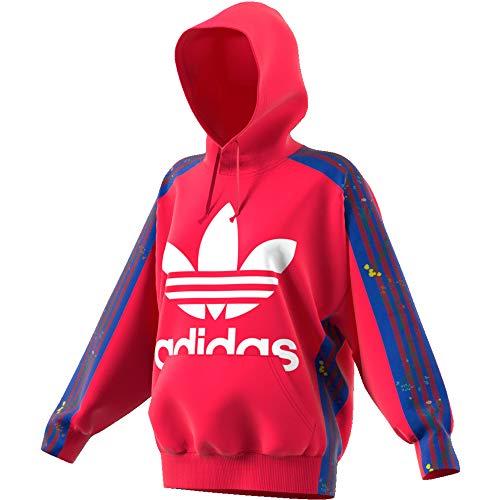 adidas Damen Flower Hoodie Sweatshirt, Energy pink f17, 40