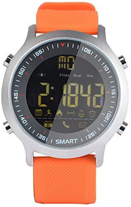 Lemumu HHY EX 18 Smart Watch Bracelet Nachrichten drücken Sie leuchtende Whlen Professional Stopwatch 50 Meter Super Wasserdicht, Schwarz