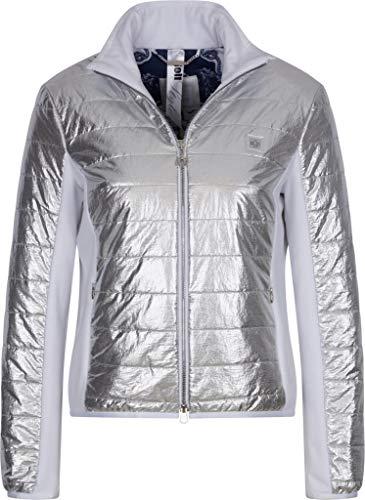 Sportalm Damen Jacke im Metallic Look Größe 38 EU Silber (Silber)
