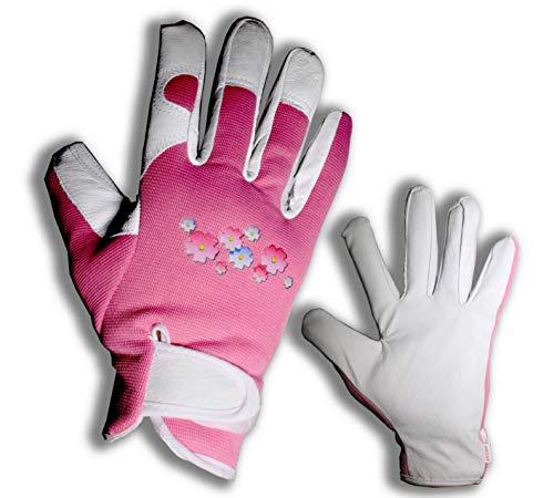 Elegante Gartenhandschuhe aus Leder, für Damen, schützt alle Finger Perfekt für Garten und Haus – absolut sicher zum Beschneiden von Rosen.