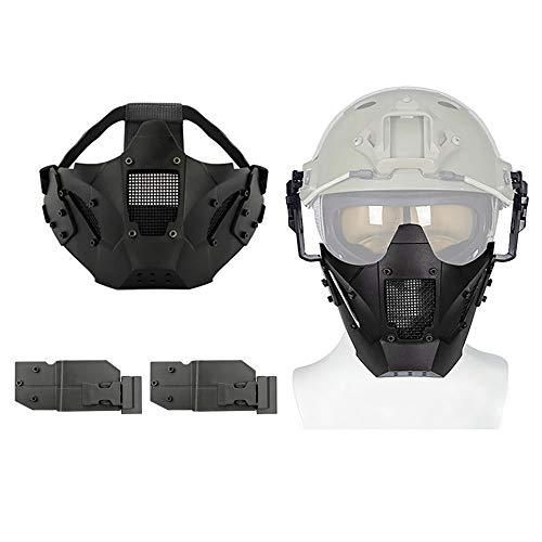 Aoutacc Airsoft Máscara de media cara de malla de acero