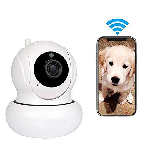 WAWZNN Huisdier Camera Draadloos, WiFi Afstandsbediening Hond Camera met Twee-weg Audio en Nachtzicht Full HD 1080P, App-Enabled en Cloud Opslag Huisdier Veiligheid en Home Security