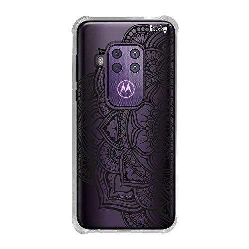 Capa Anti-Impacto Personalizada para Motorola One Zoom - Mandala Flor de Lótus Lateral - Husky