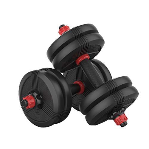 Dumbbells Protección del Medio Ambiente Mancuernas Equipo de Fitness para el hogar para Hombres Barra de combinación con Mancuernas de Peso Ajustable Seguro y Duradero