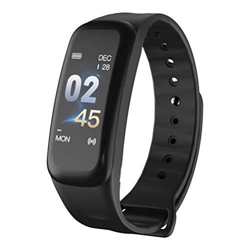 Vosarea Smart - Orologio da polso con monitoraggio della pressione sanguigna, impermeabile, schermo a colori 0,96 (nero)