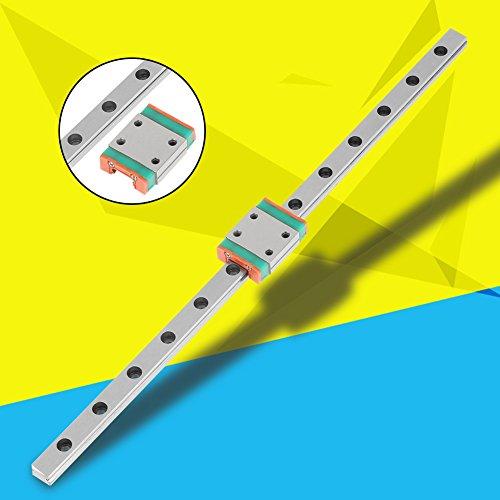 Guide Rail Sliding Rail Standard holes sliding shaft kit LWL7B for linear motion system for 3D printer for Industrial equipment(200mm)