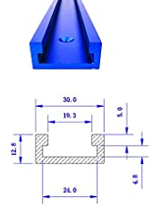 Rieles de inglete T de 30 tipos, dispositivo de inglete de fijación de ranura de aluminio
