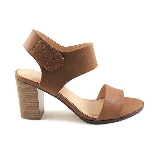 Soda Topshoeave Wait Womens Open Toe Chunky Heel Ankle Strap Shoes Block High Heel Dress Sandals Congnac 8.5 B(M) US