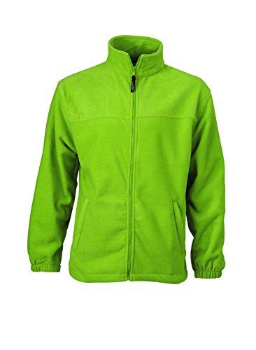 James & Nicholson - Full-Zip-Fleece Jacke L,Lime Green