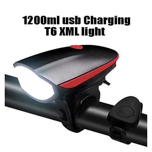 SSXPNJALQ Carga USB LED LED Bicicleta/Bicicleta/Light Set USB Faro Recargable/Linterna Impermeable Impermeable Lámpara de Ciclismo para Bicicleta (Color : Red)