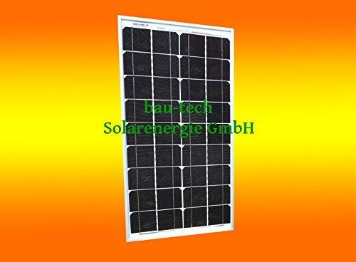 bau-tech Solarenergie 1 Stück 30 Watt Solarmodul Solarpanel Photovoltaik Solarzelle monokristallin GmbH