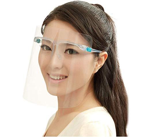True Face Shield (20 unidades) Máscara de protección de gafas de cara completa de EPP, transparente, plástico transparente