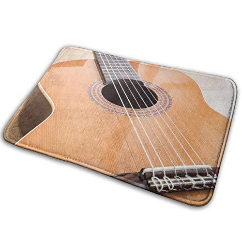 Lemotop deurmat, buiten deurmat keuken gang ingang tapijt, een klassieke gitaar zes nylon snaren