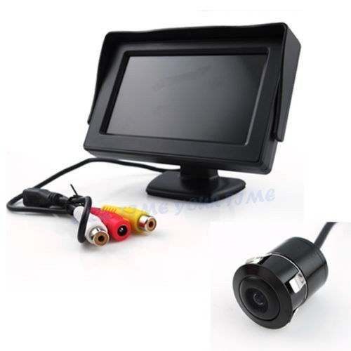 Autotrends Combo of Car Rear View Kit and TFT LCD Monitor with Car Reversing Camera