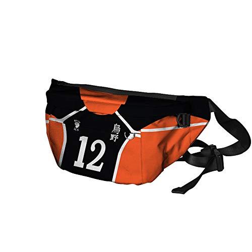 NCTCITY Damen Herren Bum Bag Schleuder Rucksack Umhängetasche Schultertasche Tasche Sporttasche Anime Haikyuu!! 3D-Druck Crossbody Bag Gürteltasche für Reisen Wandern Camping