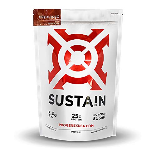 PROGENEX® SUSTA!N | No Added Sugar, Whey Protein Isolate Powder | Perfect for Keto and Low Carb Diets | Best Tasting Low Carb Protein Shake for Women & Men | 27 Servings, Milk Chocolate
