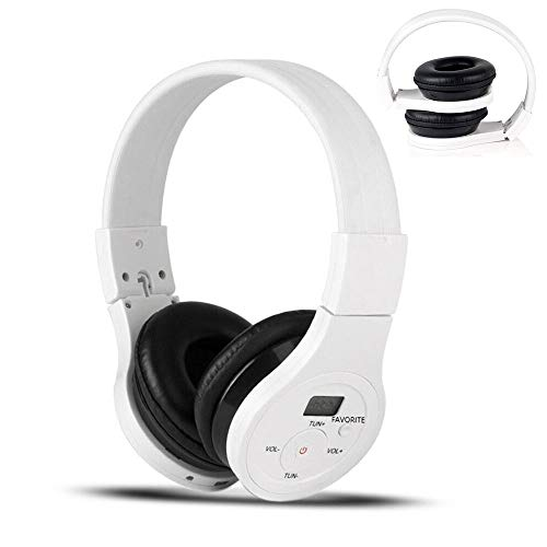 EXMAX Wireless Over Ear Stereo Bluetooth Headphones Headsets Music Payer Receiver Noise Reduction Canceling FM Safety Earmuffs Hearing Protection AUX Audio Cable for Lawn Mower Walking Parents Travel