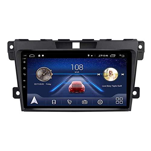 ZHANGYY Navegador estéreo con Radio de Coche de 9 Pulgadas, Compatible con Mazda Cx7 Cx-7 2008-2015, FM/RDS/GPS/Bluetooth/Mirror Link/Cámara de visión Trasera/Controles del Volante