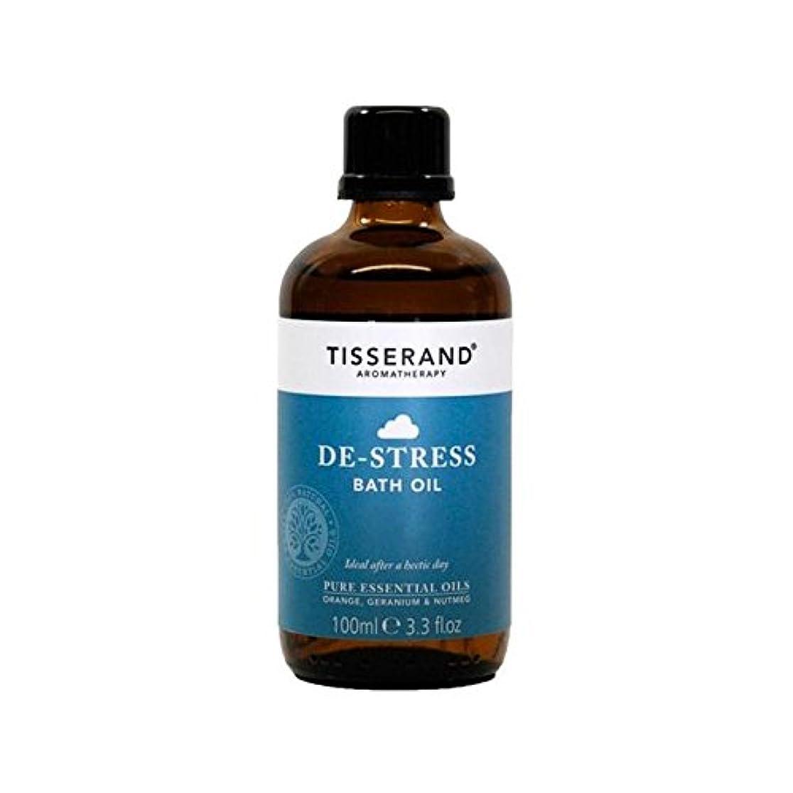 減衰最高美しいティスランドストレス解消入浴オイル100ミリリットル x4 - Tisserand De-Stress Bath Oil 100ml (Pack of 4) [並行輸入品]