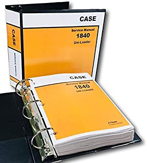 Case 1840 Uni-Loader Skid Steer Service Repair Manual Technical Shop Book Binder