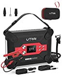 Jump Starter with Air Compressor, UTRAI Jstar 6 120 PSI 1800A 24000mAh(7L Gas 6L Diesel Engine) 12V Battery Jump Pack with Air Pump LCD Screen for Cars, Trucks, SUV