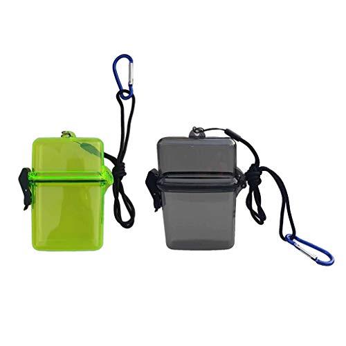 Injoyo 2X Caja De Almacenamiento De Plástico Amarillo + Gris Y Mosquetón para Canotaje En Kayak