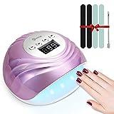 UV LED Nail Lamp, EIVOTOR Fast Nail Dryer Gel Nail Light with 4 Timmer Settings & Smart Sensor 86W Nail Machine for Fingernail and Toenail