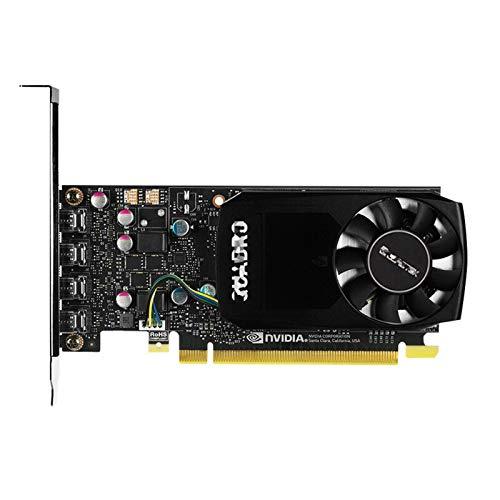 XIKONG Tarjeta de gráficos, P1000 GPU 4 GB GDDR5 1000 MHz Mini DP Video Doble Ventilador Sistema de refrigeración Consumo Mesa de Escritorio PC Accesorios Tarjetas Fotograf