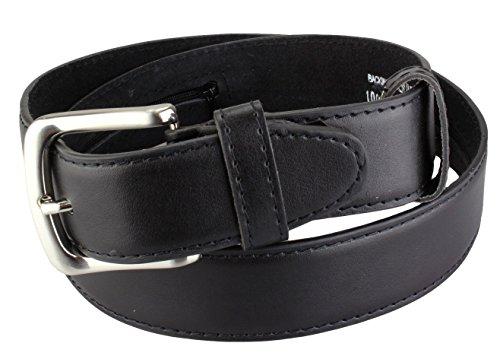 Cinturón de seguridad de cuero con cremallera in Negro | Tamaño de la...
