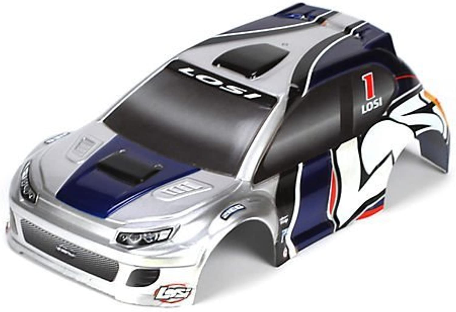 1 24 4WD Rally Painted Body, Silber Blau by Team Losi
