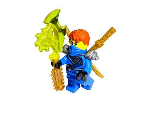 LEGO Ninjago Jay Rebooted - Figura decorativa con dos espadas doradas y hoja tecnográfica, diseño de Jay Rebooted