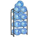 Water Cooler Jug Rack for 5 Gal Water Bottle, 5 Gallon Water Bottle Rack, 5 Gal Water Bottle Holder, 4-Tier Heavy Duty Water Bottle Holder Storage Rack for 5 Gallon Water Dispenser, Nano Steel, Space Saver (Black)