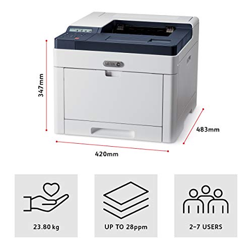 Xerox Phaser 6510V_DN - Impresora láser (LED, Color, 1200 x 2400 dpi, A4, 300 Hojas, 28 ppm)