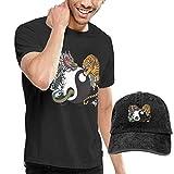AOCCK Camisetas y Tops Hombre Polos y Camisas, Dragon Tiger Tai Chi Men's Short...