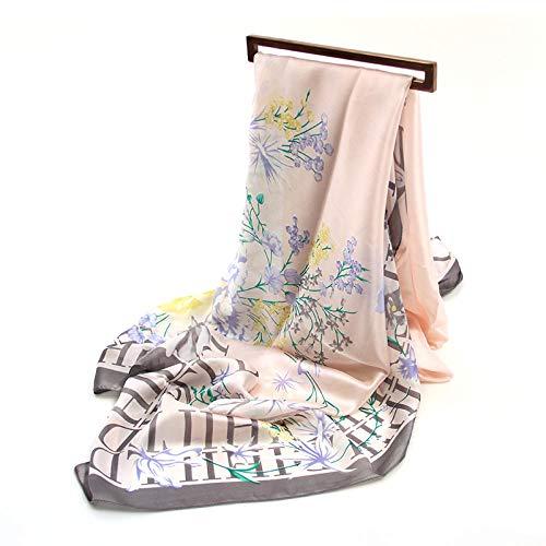 Lfchujian zijden sjaal Women'S sjaal zijde sjaals wilde sjaal lange dunne sectie lente en herfst zomer zonnebrandcrème sjaal strand handdoek Wrapsbouquet brief poeder