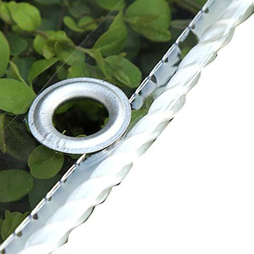 XXIOJUN Tarpaulin Clear Lona Transparente Resistente, Polietileno Duradero con Ojales Reforzados Resistencia Al Desgarro 100% Impermeable para Cubiertas De Plantas De Flores