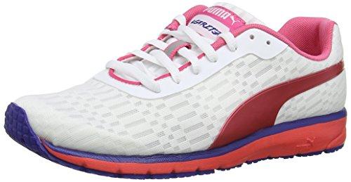 PUMA Narita V3 Speed W, Damen Laufschuhe Training, Weiß (Wht/F.Pink), 38.5 EU