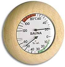 TFA sauna termómetro e higrómetro Abachi-blanco 401028