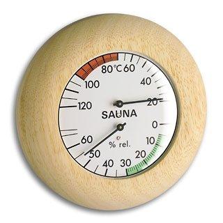 TFA SAUNA Thermometer THERMO Hygrometer Abachi-weiß 401028