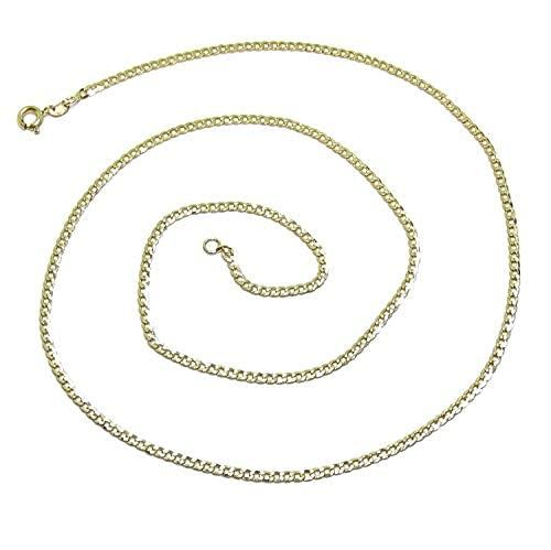 Cadena de Eslabones en Oro Amarillo de 18K | 60cm Largo | 4g Oro 1ª Ley | Never say Never Joyería Fina Italiana | Regalo Hombre Mujer
