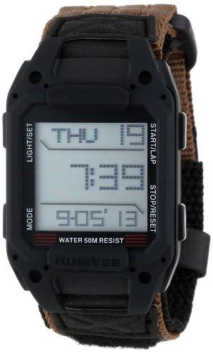 Humvee Men's HMV-W-RCN-BLK Recon Tan Nylon Strap Watch