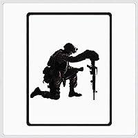 """フランネルフリースベッドスローブランケット、 アメリカの兵士に付着する取り組み ソフトコージーマイクロファイバーオールシーズンブランケット、寝室のリビングルーム用ソファソファ (Size : Twin(60""""x 80""""))"""