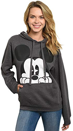 Disney Hoodie Mickey Mouse Peeking Pullover Sweatshirt Small - Plus Size