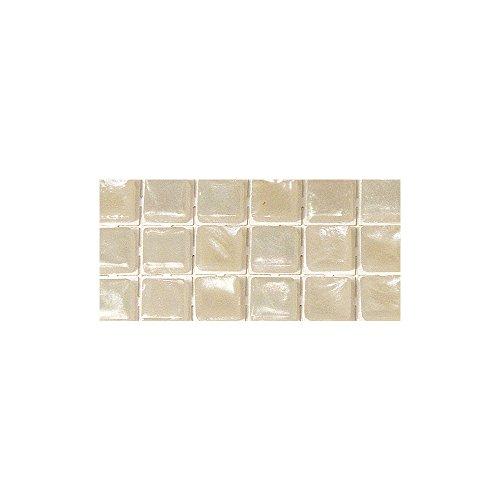 Rayher - 14398861 - Acryl-Mosaik, Perlschimmer,selbstklebend, 5 mm, quad. SB-Btl. 144 Stück, silver shadow