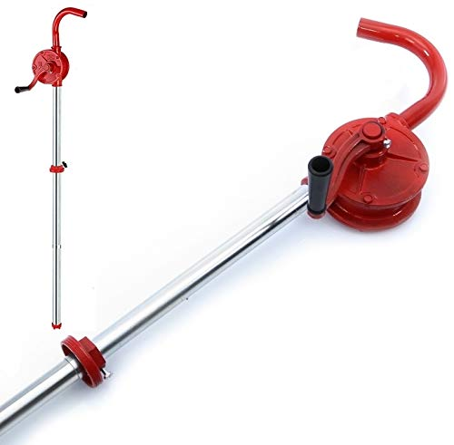 rg-vertrieb Kurbelfasspumpe Handpumpe Fasspumpe Gusseisen Kurbelpumpe Ölpumpe Dieselpumpe rot