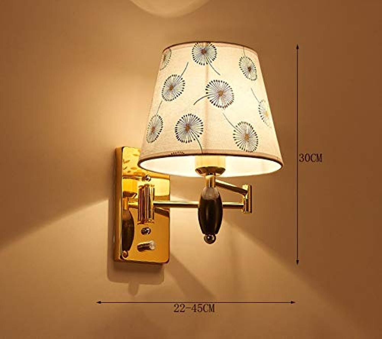 MJY Mode die Wirtschaft der Energie Lampe verstellbare Wand - Eisen Lounge Schlafzimmer Led Nachttisch minimalistischen modernen Rocker Arms Wandleuchte (nicht die Lichtquelle enthalten) (Form  Dop